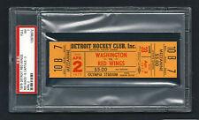 PSA 7 OLYMPIA STADIUM 1975 Unused NHL Hockey Ticket Capitals at Red Wings