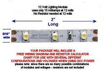 4 NEW WARM WHITE LED LIGHTING MODULES FOR LIGHTING HO SCALE BUILDINGS