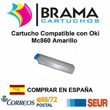 Cartucho Amarillo Compatible NonOem Oki Mc860 10000 Paginas Oki 44059211 Mc 860