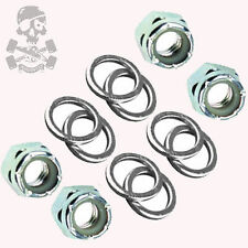 Skate / Skateboard Truck Axle Nuts, set of 4, plus a set of 8 Speed Washers