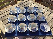 Service à Café Limoges Haviland Torse Cerisier Bleu 12 Tasses Expresso 1970