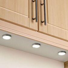 12v Under Cabinet Round LED Light Fitting 2 Watt Cool White/Warm White