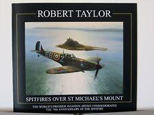Spitfires Over St Michael's Mount RAF Aces Robert Taylor Aviation Art Brochure