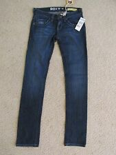 NEW WITH TAGS WOMEN'S ROXY GOLD COAST SKINNY FIT DARK BLUE JEAN PANTS SIZE 0
