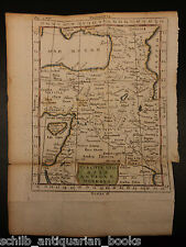 1742 Color Copper MAP of TURKEY Black Sea Asia Minor Tripoli Arabia 23 X 17cm