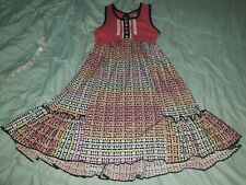 Jona Michelle Girls Sleeveless Swing Ruffle Hem Dress  Size 6