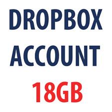Dropbox 18 GB Account! Lifetime space!