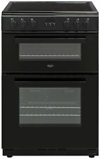 Bush BDBL60ELB Free Standing 60cm 4 Hob Double Electric Cooker - Black.