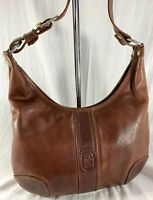 MARIO ORLANDI Authentic Vintage Brown Leather Shoulder Bag Made in Italy