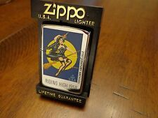 RIDING HIGH 1958 HALLOWEEN PINUP GIRL 21ST CENTURY ARCHIVES ZIPPO LIGHTER 1996