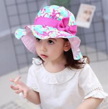 Quality Girls Toddler Children Bucket Sun Hat Cap Wide Brim Kids Sun Hat