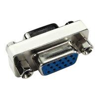 VGA SVGA Coupler Gender Changer 15 Pin HD15 Female to F Adaptor Converter