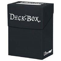 Ultra Pro BLACK DECK BOX - NEW Holds 80 Sleeved Magic/Pokemon/Yu-Gi-Oh Cards