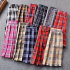 Women Fashion Summer High Waist Pleated Skirt Cosplay Plaid Kawaii Female Skirts