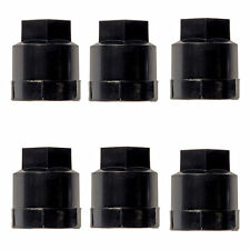 6 Pack - Black Wheel Nut Cover M24-2.0, Hex 19mm Fits GM
