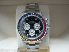 Rolex Daytona Steel Rainbow Diamond Dial & Rainbow Bezel MINT