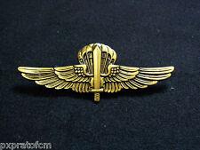 Distintivo Brevetto Paracadutista Militare Halo 9° Col Moschin Old Bronzato