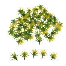 50Pcs Model Train Trees Flower for Scenery Landscape 1/100 HO Scale Yellow