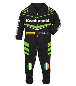 Kwakasaki Baby Biker Race Sleep Suits