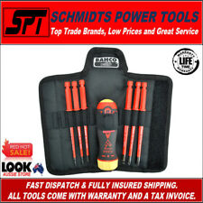 BAHCO 808061 1000V ELECTRICIANS INSULATED SCREWDRIVER SET RATCHETING VDE 6 in 1