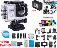 Videocamera 1080p sport Action camera cam microcamera.Elmetto,casco,moto,softair