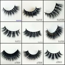 3D Full Strip Lashes 100% Real Siberian Mink Strip Eyelashes Beauty 1000Pairs/lo