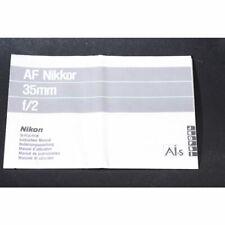 Nikon AF Nikkor 35mm F/2 Bedienungsanleitung / Gebrauchsanweisung / Anleitung