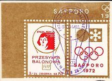 POLAND 1972.VIII.26 Ballon STOMIL, Mail Cat.46 Start POZNAN - SWIATNIKI landing