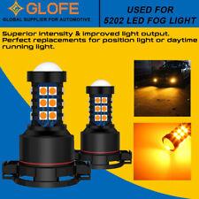 Glofe 5202 H16 30000k Led Fog Light Driving Bulb High Power Amber Yellow 30smd