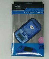 Vivitar Viv-sc-3100-blu-s Lcd Battery Charger For Sony(r) Batteries (blue