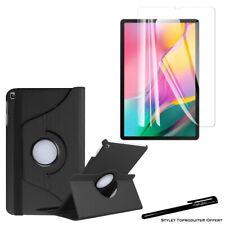 Housse Etui Noir pour Samsung Galaxy Tab A 10.1 2019 T510 + Vitre de protection