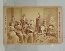 1870s BLACK AMERICANA NEW ORLEANS UNIVERSITY JUBILEE SINGERS CABINET CARD PHOTO
