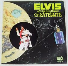 "Manuel Cuevas ELVIS PRESLEY Signed Autograph ""Aloha From Hawaii"" Album Vinyl LP"
