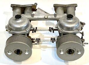 Matched Pair Zenith Stromberg 175 CD Carburetors & Intake Manifold Triumph TR4