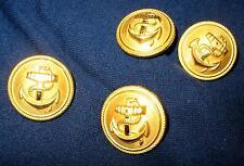 4 Stück Marine Knöpfe Anker Bundeswehr Army Button Uniformknöpfe