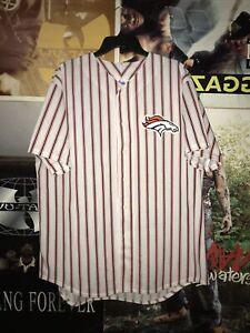 Vintage Denver Broncos Majestic Pinstripe Jersey Sz XL NFL Peyton Manning VTG