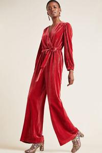 New Anthropologie Ali & Jay Samantha Velvet Jumpsuit Size Medium MSRP: $170