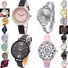 Ladies Thin Strap band Large Face Analog Quartz WristWatch Watch selection NEW