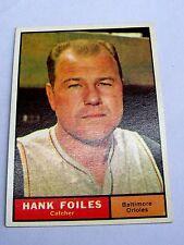 1961 Topps #277 Hank Foiles Cather Baltimore Orioles Baseball Card BC#178 JS