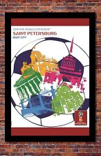 """2018 FIFA World Cup Russia Poster Soccer Tournament   St. Petersburg   13"""" x 19"""""""