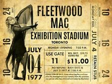 More details for fleetwood mac gig concert retro classic metal wall sign plaque bar home decor