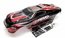 1/10 Brushless E-REVO BODY shell (RED and BLACK Shell & Decals) Traxxas 5608