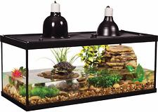 20-Gallon Deluxe Aquatic Turtle Reptile Frog Tank Habitat Complete Starter Kit