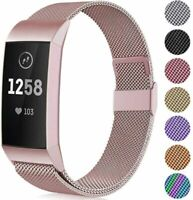 """Faliogo Metal Replacement Strap Compatible with Fitbit S 5.5""""-7.1"""", Rose Gold"""
