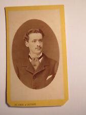 Lausanne-octobre 1879-Hermann de Lengerke comme jeune homme/CDV