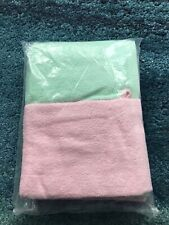 Brand New Hand Towel And Hand Mitt Set Pink And Green