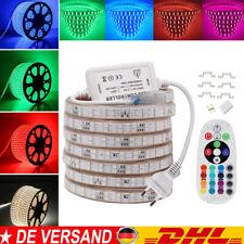 230V 220V 5050 RGB LED Stripe flexible Seil Lichter Streifen Lichtleiste 1-100m