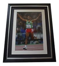 Haille Gebrselassie Signed Framed Autograph 16x12 photo display Olympic Athletic
