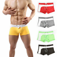 Men's Swimming Trunks Summer Beach Shorts Swimwear Boxer Briefs Bathing Suit