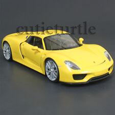 Welly 24055 Porsche 918 Spyder Hard Top 1:24 Diecast Model Car Yellow